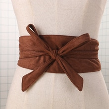 Ceinture women Belt binding decorative dress waist band waist belt imported double - sided cashmere