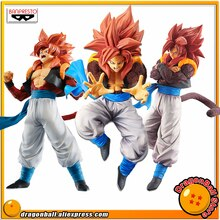 Banpresto Original de Dragon Ball GT, Son Goku FES Figura coleccionable de sangre de los Saiyan, Kamehameha, Super Saiyan 4 Gogeta