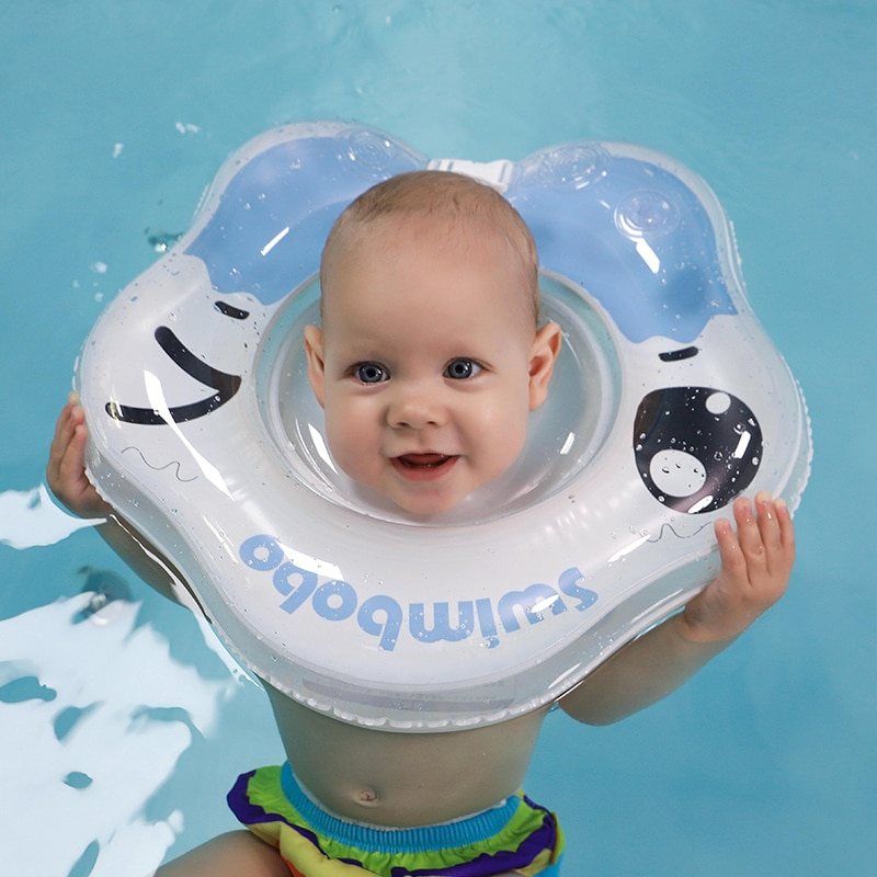SWIMBOBO Baby Swimming Neck Circle Infant Inflatable Bath Tub Ring PVC Swim Floating Accessories For Boys And Girls Droshipping