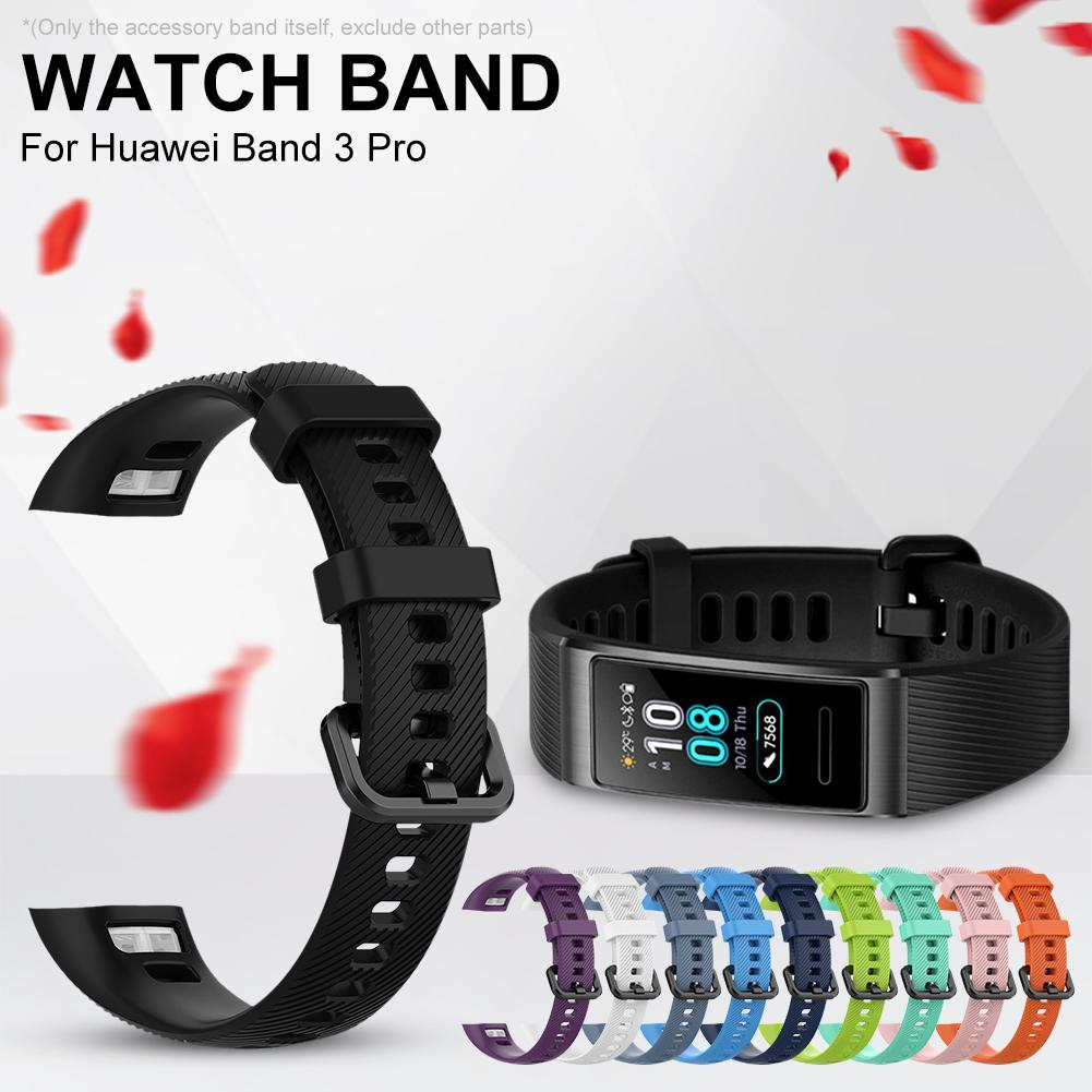 Hot Sale! Watch Band for Huawei Band 3 Pro Silicone Bracelet Wrist Strap Watch Strap Replacement Wri