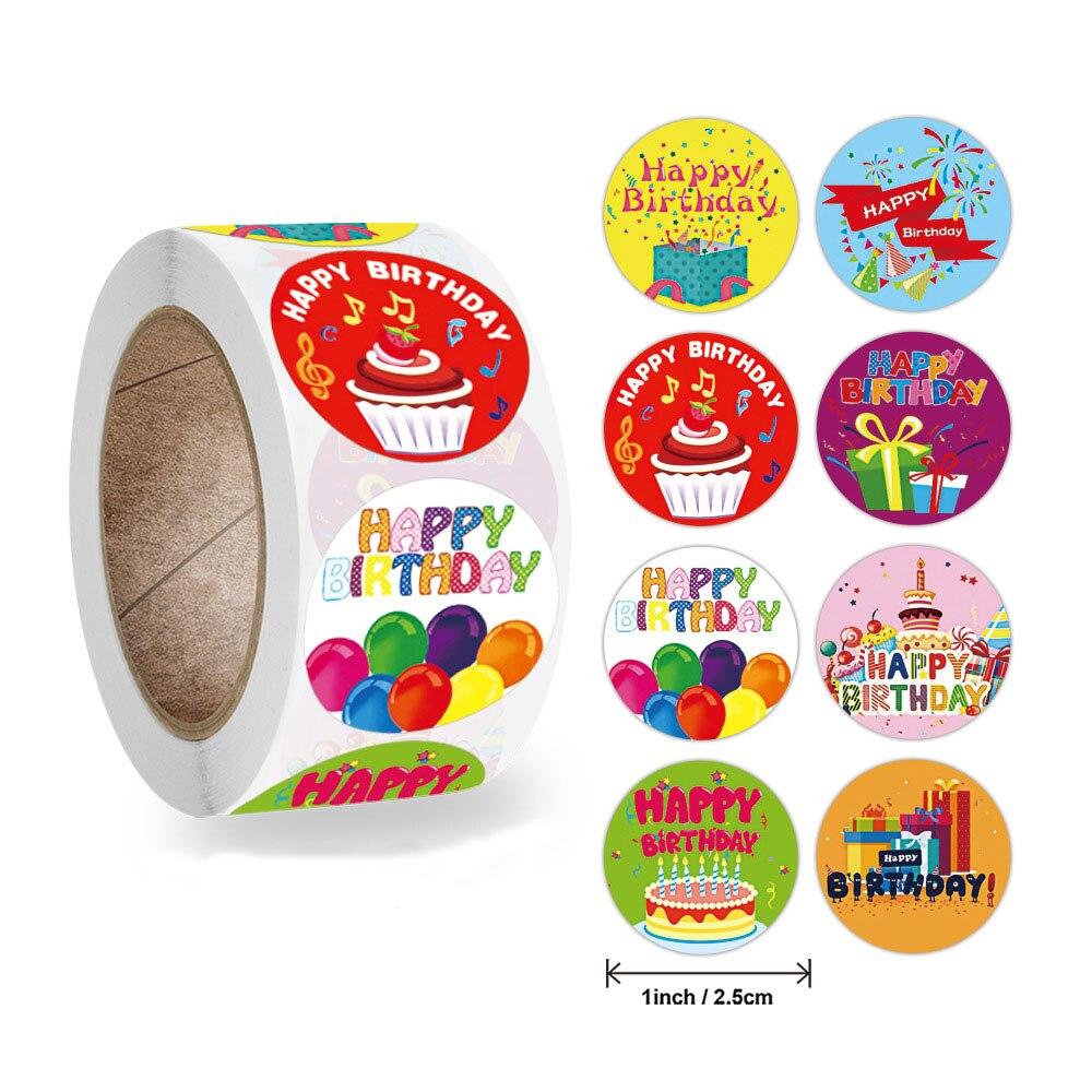 50-500-pz-1-pollice-adesivo-di-buon-compleanno-8-disegni-per-confezione-regalo-per-feste-etichette-sigillanti-nastri-di-cancelleria-per-decorazioni