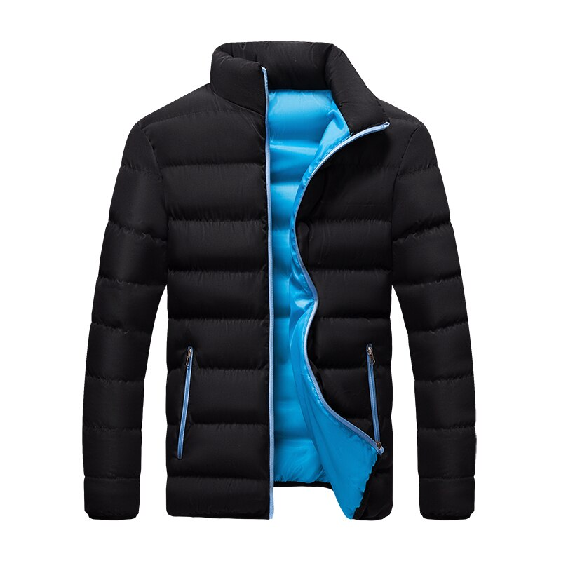 New Warm Thick Men Parka Jackets Winter Casual Mens Outwear Coats Solid Stand Collar Male Windbreak