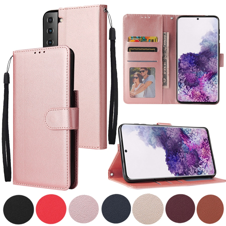 Leather Case For Samsung Galaxy S20 S21 Ultra S10 S9 S8 Plus S7 S6 Edge S20FE S10E Note 8 9 10 Pro Lite 20 Ultra Phone Cover Bag