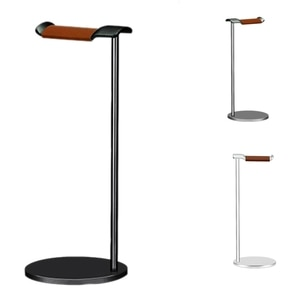 Curved Headphone Stand Rack Sturdy Metal Gaming Headset Earphone Holder Hanger with Solid Base for Table Desk Display