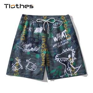 Шорты-бермуды с рисунком динозавра, пляжные шорты с рисунком, Брендовые мужские спортивные шорты для бега, баскетбола