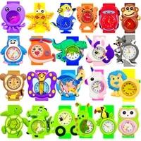 25 animals cartoon dinosaur watch children baby watches kids study time toy gift child watch boys girls clock reloj infantil