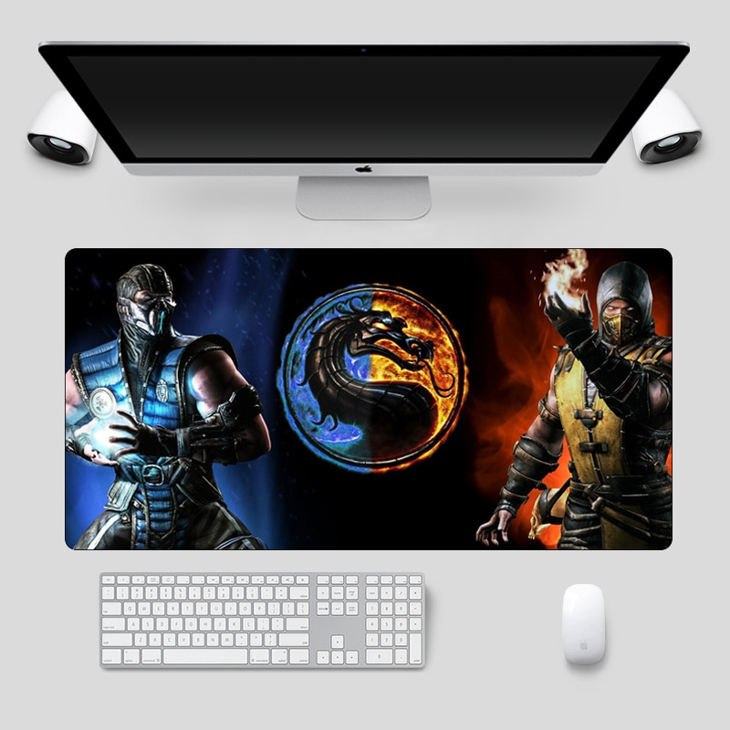 Large 60x30cm Mortal Kombat Gaming Mouse pad Locking Edge  Non-Skid Computer Gamer Laptop Keyboard pad Notebook Pc Accessories