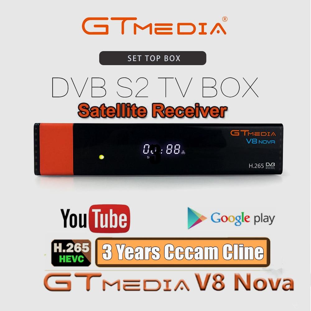 GTMedia V8 Nova receptor de satélite Full HD DVB-S2 con 3 años de Europa España CCCAM para Smart Digital TV soporte CCCAM IPTV Youporn