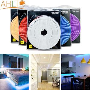5m SMD 2835 Led Strip Light Flexible Waterproof LED Neon Lights Wall Lamp Night Light for Home Decoration Cabinet Lighting DC12V