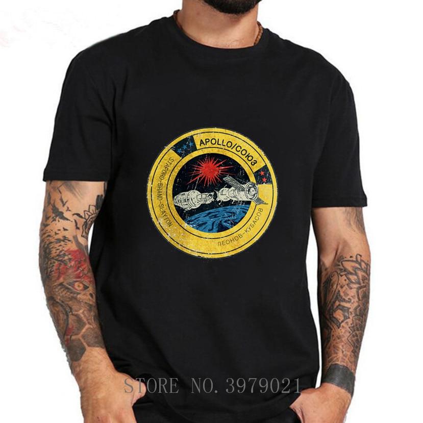 Apollo Soyuz Vintage Emblem V01 2020 Einzigartige T-Shirt Männer CCCP Yuri Interkosmos Internationalen V01 T Hemd Masculina Tops