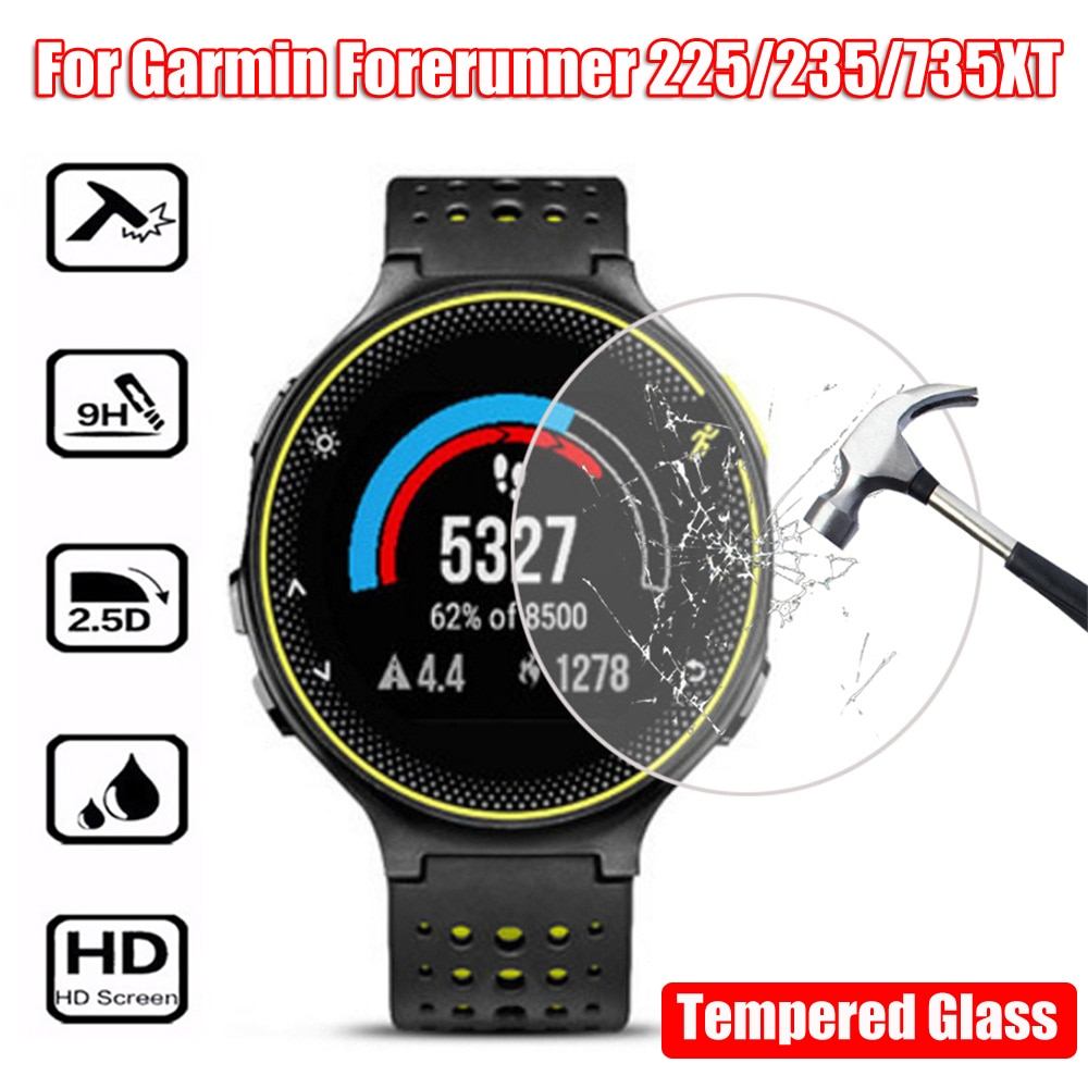 Moda de nova Premium Vidro Temperado Protetores de Tela HD Relógio Clássico Capa Protetora Film Para Garmin Forerunner 235 225 735XT