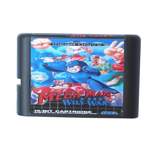 Mega hombre astuto guerras 16 bit tarjeta de juego MD para Sega...