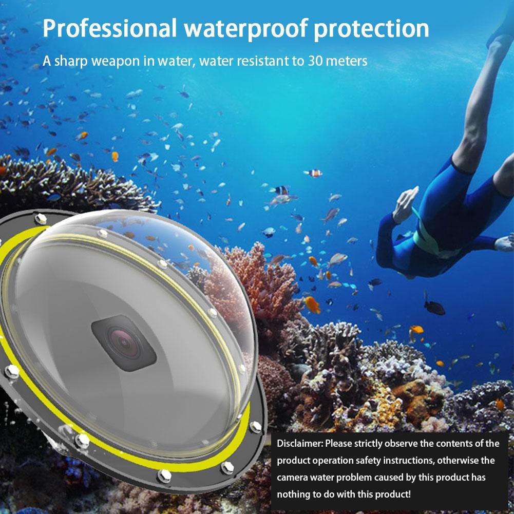 Hero8-قناع غوص مقبب ، غطاء عدسة الماء ، حماية تحت الماء ، كاميرا مع مبيت مقاوم للماء