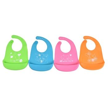 Adjustable Baby Bibs Silicone Waterproof Feeding