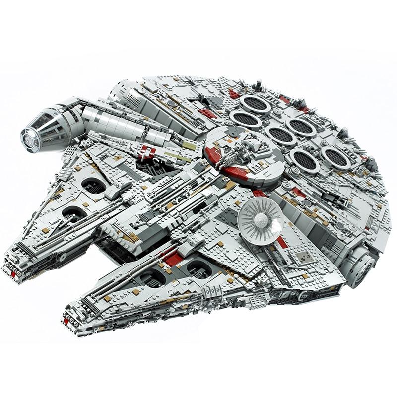 Em Estoque 05132 Nova Milênios 8445pcs 75192 Lepining Star Wars Série Falcon de Colecionadores Final Modelo de Construção Tijolos Brinquedos