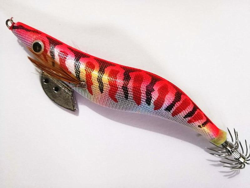 1 Uds 20g/13cm color rosa pesca calamar chipirones señuelos Spinnerbait madera