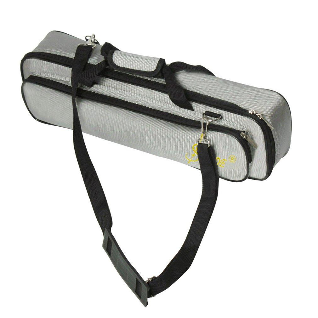 600D Oxford tissu imperméable à leau Portable léger flûte Gig sac boîte avec bandoulière pour Instrument de musique