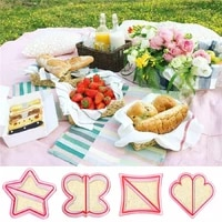 kids style diy sandwich bread crust baking cake animal graphic cutter toast moulds cookie presses set easy breakfast making tool