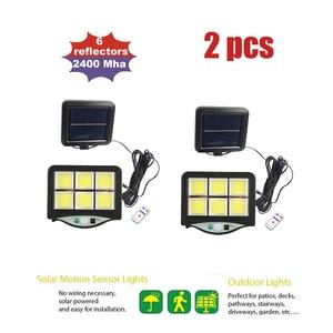 Solar Power PIR Motion Sensor Wall Light LEDs Separable Outdoor IP65 Street Yard Path Home Garden Lamp remote 3 modes seperable