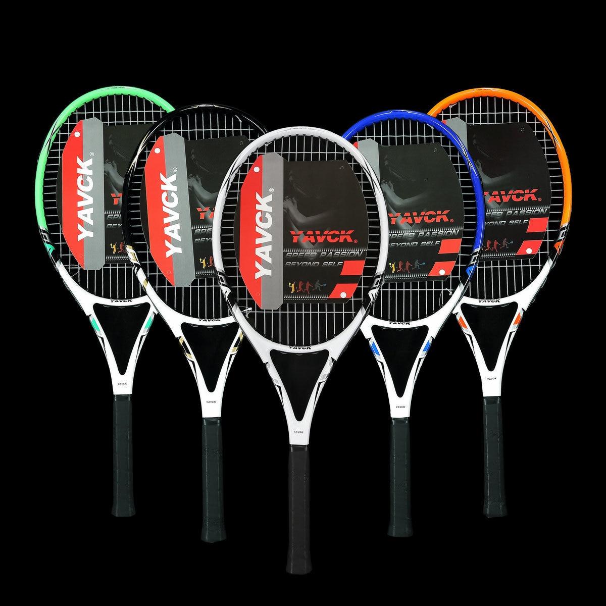 Outdoor Beginners Tennis Racket Adults Carbon Fiber NEW High Quality Tennis Racket Rakiety Do Tenisa Racquet Sports BD50TB