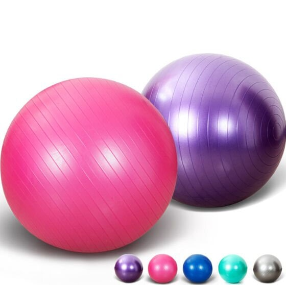 2019  Sports Yoga Balls Bola Pilates Fitness Gym Balance Fitball Exercise Pilates Workout Massage Ball 45cm 55cm 65cm 75cm