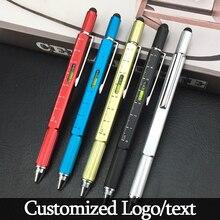 6 funciones destornillador oculto de lujo Bolígrafo de Metal multicolor rollerball plumas papelería de oficina regalo de logotipo personalizado
