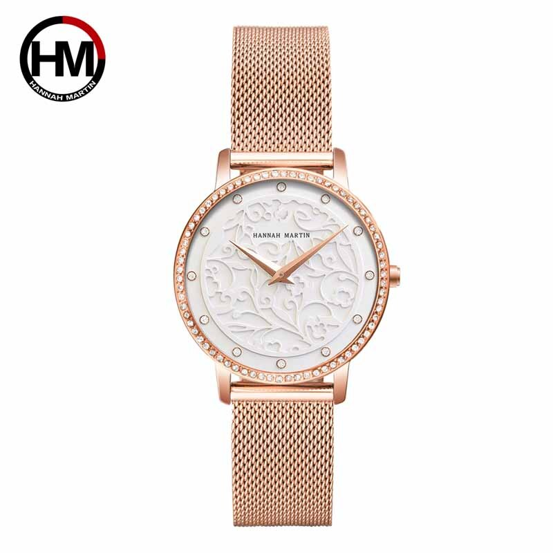Hannah Martin 2020 New Quartz Female Watches Luxury Brand Ladies Watches Fashion Clock Wrist Watches For Women Relogio Femininos