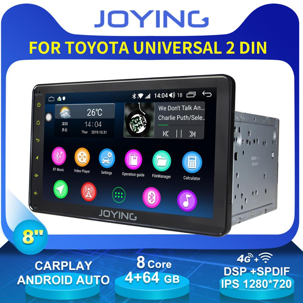 "Accesorios de 8 ""2 din, unidad frontal de Radio GPS Universal estéreo para coche con Android para Toyota Corolla Avensis T25 Camry land cruiser CHR Yaris"