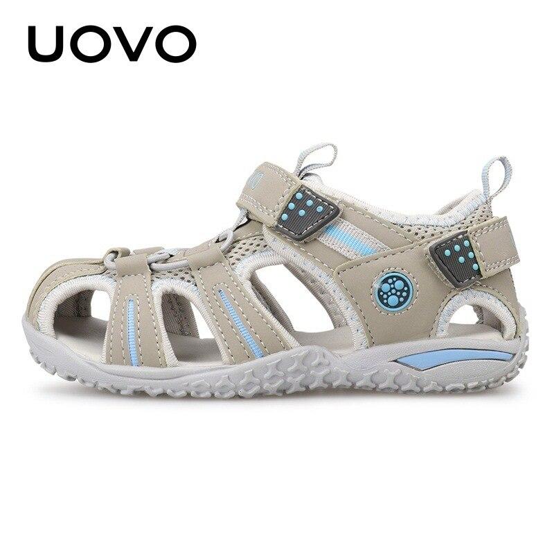 Uovo-صنادل شاطئية للأطفال ، أحذية صيفية للأطفال 2 3 4 5 6 7 8 9 10 11 12 13 سنة ، مجموعة جديدة 2020