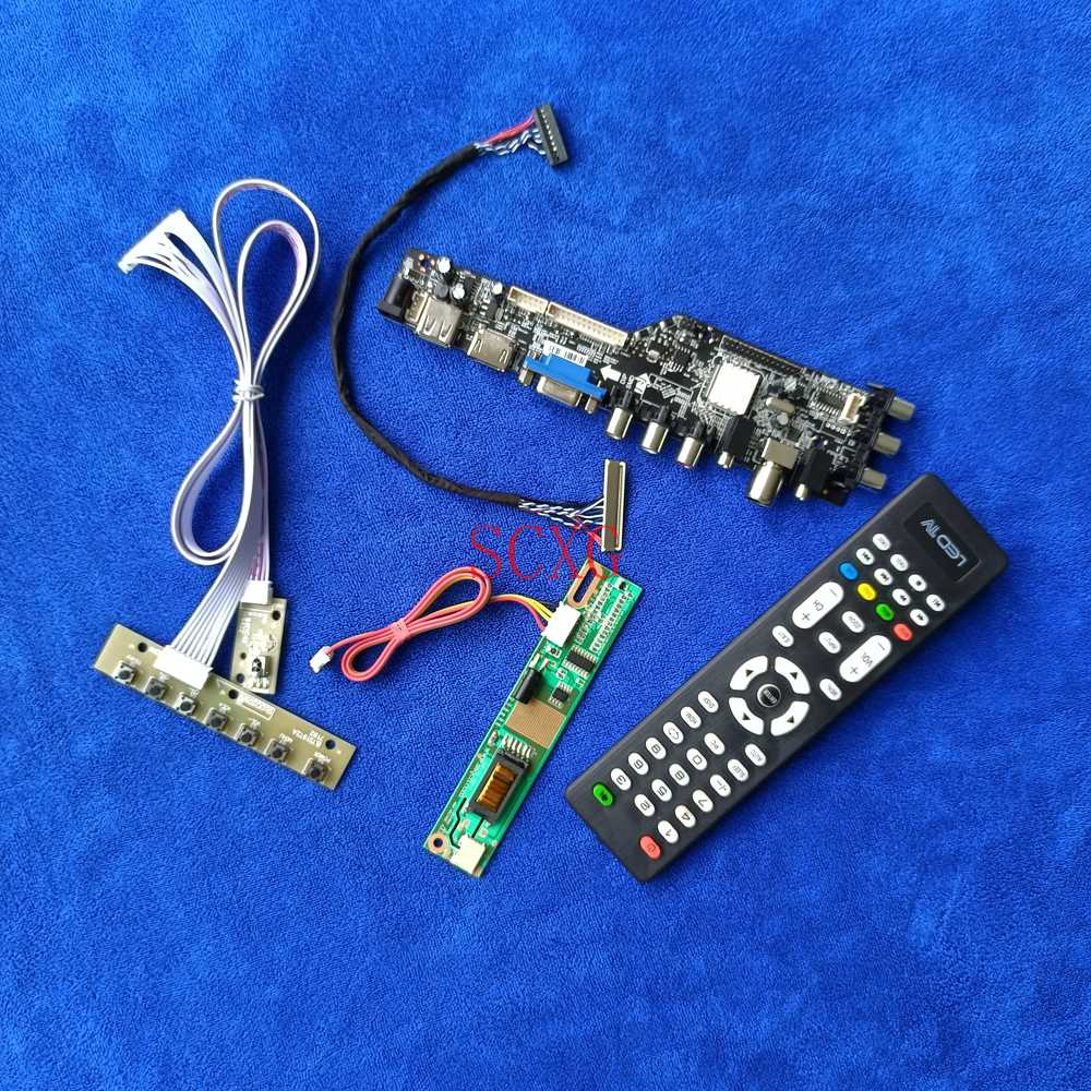 1CCFL HDMI متوافق مع USB VGA DVB إشارة رقمية تناسب CLAA102NA01CW/CLAA102NA32CW LCD مصفوفة محرك مجلس LVDS 30 دبوس 1024*600 عدة