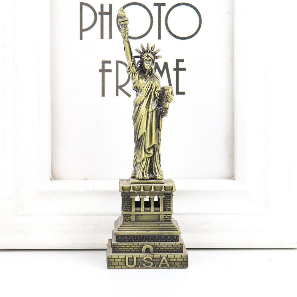 Статуя Модель свободы металла статуэтки, миниатюры дома Украшения Скульптура арт Сувениры подарки украшения дома и офиса Декор в гостиную