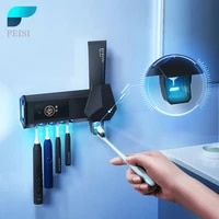 PEISI UV Porte-Brosse A Dents Brosse A Dents Intelligente Sterilisateur Automatique Presse-Dentifrice Distributeur Salle De Bain Accessoires Ensemble