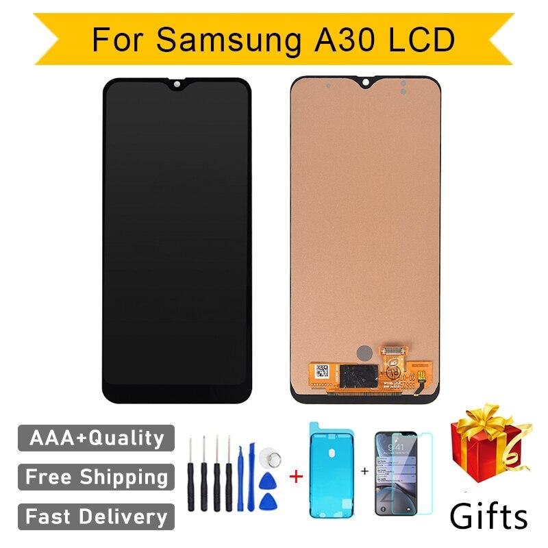 Incell-مجموعة استبدال شاشة لمس LCD ، AAA ، لهاتف Samsung A30 A305F A305A ، إصلاح مثالي