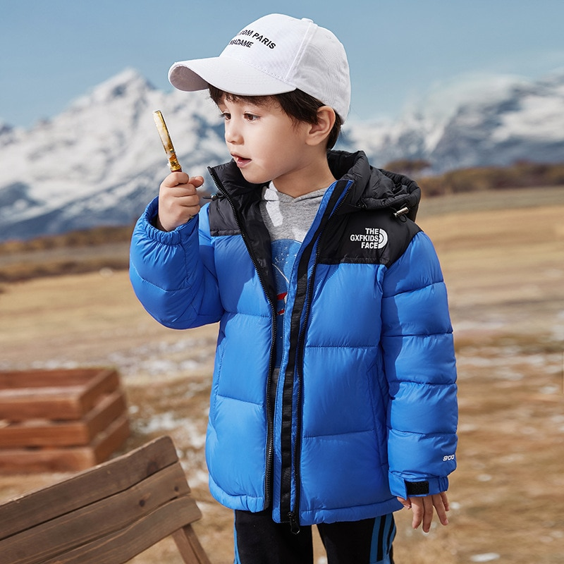 OASHTH Kid's clothing autumn and winter new children's lightweight down jacket 2T-14T boys and girls jacket enlarge