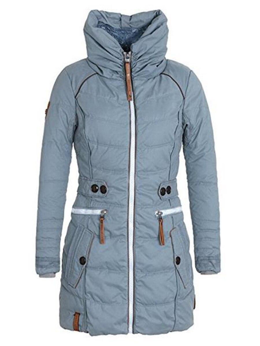 Women Fur Cotton Padded Coat Long WinterThick Fleece Warm Turtleneck Parka Female Jacket Outwear Fas