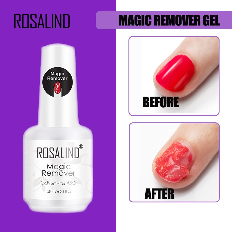ROSALIND Magic Remover Gel Nail Polish Remover Within 2-3 MINS Peel off Varnishes Base Top Coat with