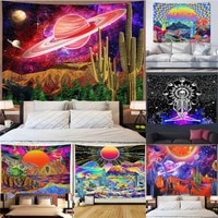 bohemian psychedelic witchcraft wall tapestry indian mandala hanging hippie abstract decor yoga throw towel