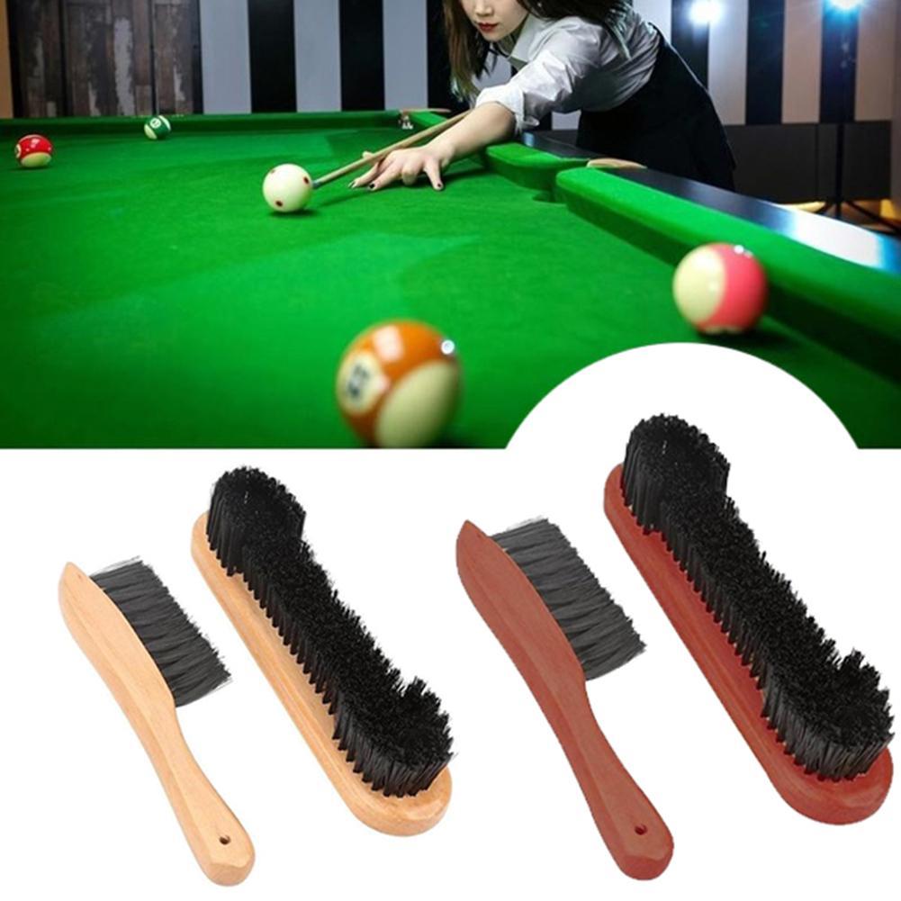 2 unids/set Deluxe de madera cepillo para riel de billar Snooker piscina de carril sentí cepillo mesa de billar Herramientas de limpieza