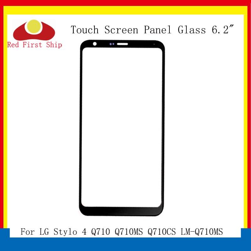 10 unids/lote de pantalla táctil para LG Stylo 4 Q710 Q710MS Q710CS LM-Q710MS Panel táctil frontal exterior Stylo 4 Q710 LCD lente de cristal