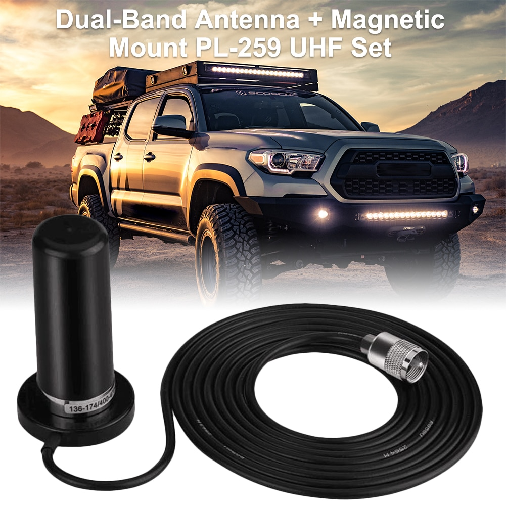 Автомобильная рация Dual BandHH-N2RS UHF/VHF PL259 антенна 5 м коаксиальный кабель магнитное крепление базовый разъем