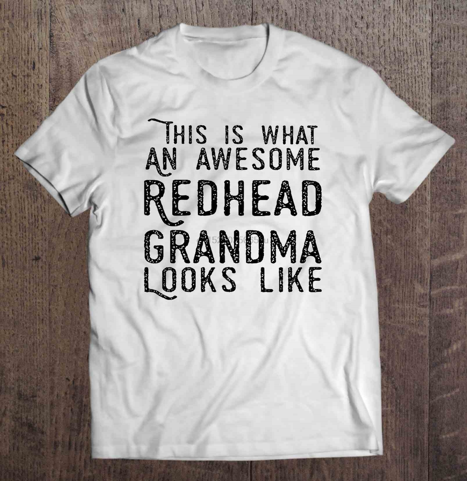 Men T Shirt  This Is What An Awesome Redhead Grandma Looks Like  Women t-shirt