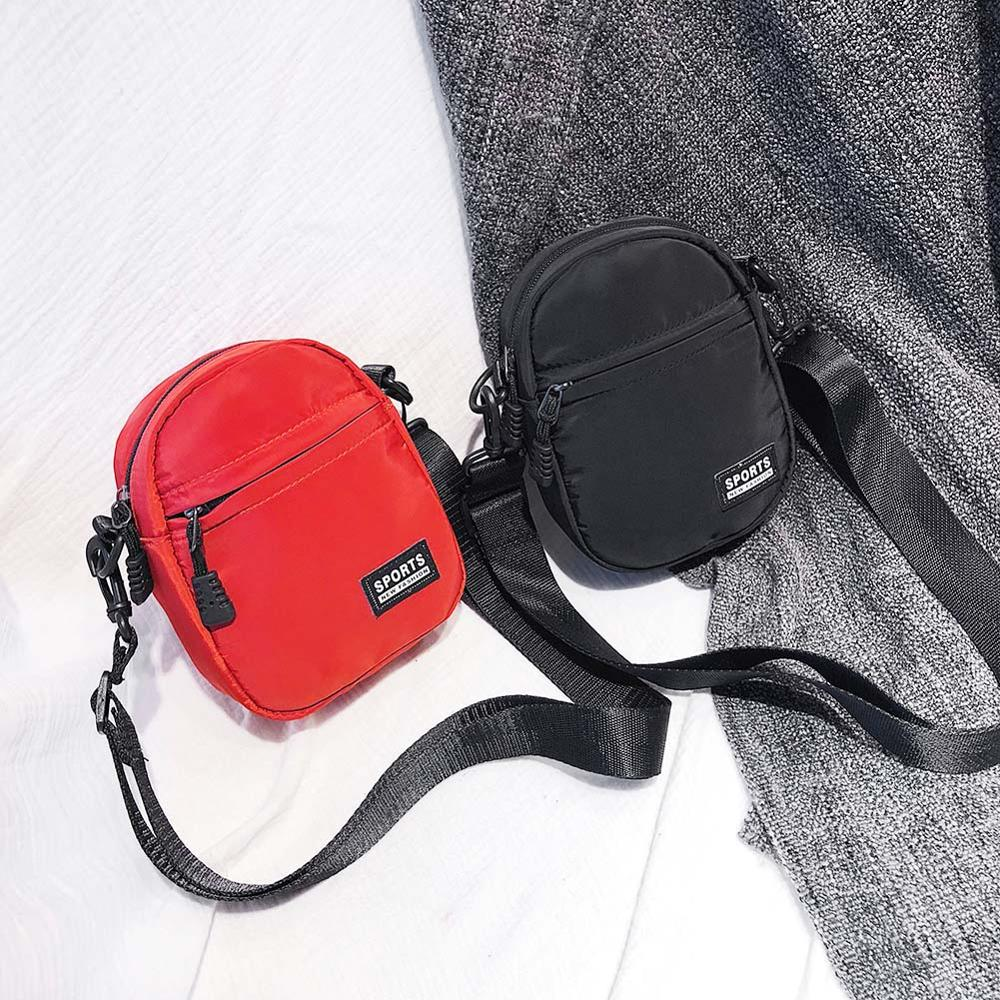 Bolso pequeño cruzado de lona para mujer, bolso deportivo con cremallera, para teléfono móvil, 2019