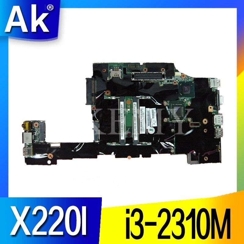 Para Lenovo ThinkPad X220 X220I portátil placa base FRU 04Y1842 04W06960 4W3302 04W2123 CPU i3 2310M prueba 100% trabajo