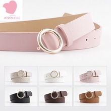 Creative wild style snap belt female 6 color fashion casual decorative jeans round buckle lady belt