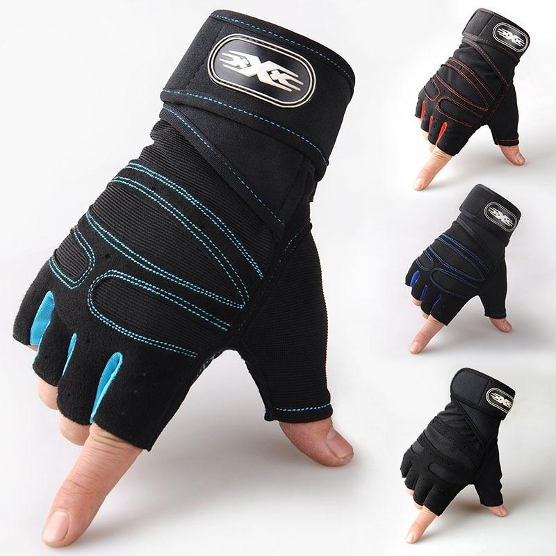Перчатки с открытыми пальцами для тяжелой атлетики Мужская спортивная одежда для фитнеса мужские уличные Тактические Кожаные перчатки для...