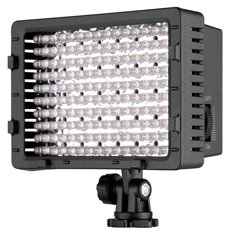 Mejores OFERTAS videocámara Video luz 160 LED Ultra alta potencia Panel Digital cámara LED luz para Canon Cámaras SLR digitales