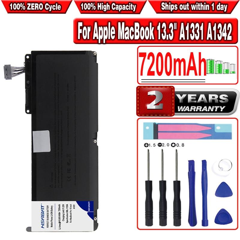 "Para apple macbook 13.3 ""a1331 a1342 unibody mc516ll/a mc233ll mc207ll/a 020-6809-a 661-5391 020-6810-a 020-6580-a bateria do portátil"