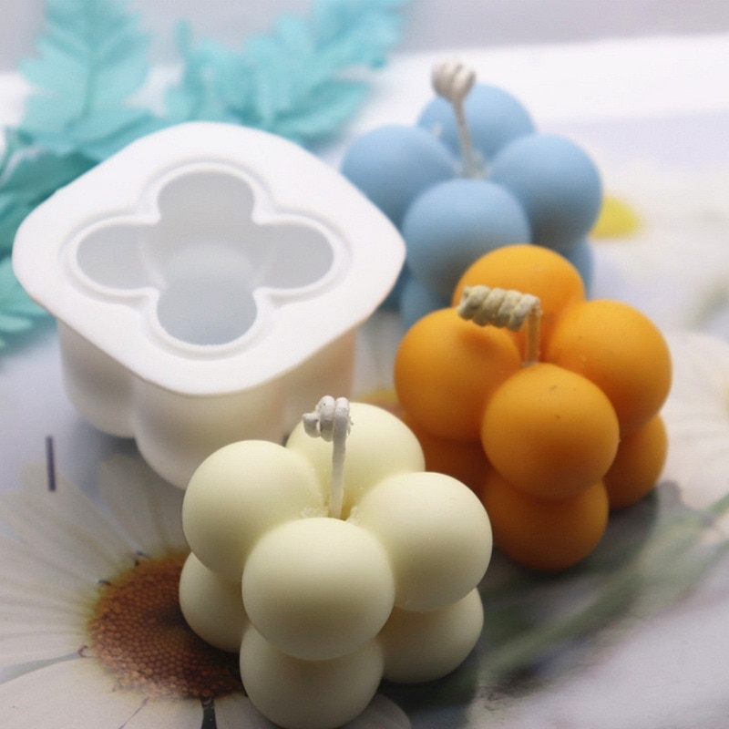 DIY 3D Candle Mold Handmade Aromatherapy Soy Wax Candle Silicone Mold Plaster Candles Mould making Epoxy Resin Soap Molds