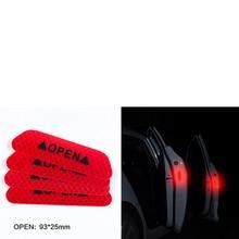 4pcs Car door safety anti-collision warning reflective stickers OPEN stickers For Daewoo Matiz Nexia Nubira Sens Tosca Winstorm