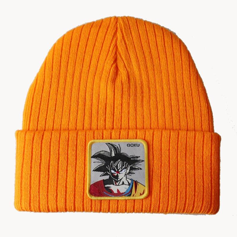 Облегающие шапки унисекс с рисунком аниме Kakarotto Goku, осенне-зимние трикотажные теплые лыжные шапки